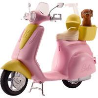 Barbie Scooter e Cagnolino, Moto con Cucciolo e Casco, Bambola Non Inclusa