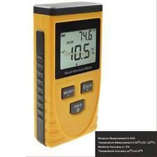 Non-destructive Wood Timber Damp Moisture Temperature 2in1 Meter Detector Tester