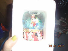 NWT Disney Store Mickey Mouse Donald Duck Dumbo Goofy Marching Band Snow Globe