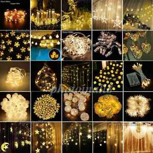 10-600 LEDs Warm Christmas Wedding Party Decor Outdoor Fairy String Lights Lamps