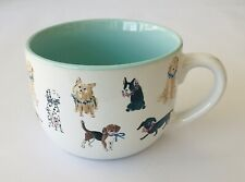"""Eccolo Jumbo Coffee Cup / Mug with 6 Types of Dogs Decoration 3.5"""" tall x 4.75"""""""