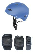 Kids Skate Helmet and 6 Piece Pad Set Ideal for BMX Skateboads and Scooters