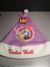 New Disney Tinkerbell Purple Happy Holidays Christmas Santa Clause Hat