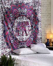 Mandala Elephant Multi Print Tapestry Wall Hanging Bed Sheet queen Bed Cover
