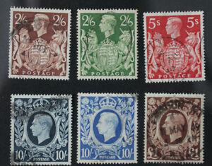 GB 1939 High Value Definitives Set SG476-478c fine used CV £60