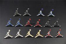 Air Jordan Jumpman Logo All 8 Colors CZ Stud Earrings In Gift Box