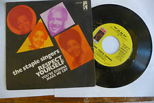 """THE STAPLE SINGERS""""RESPECT YOURSELF-disco 45 giri STAX It 1973"""" SOUL"""