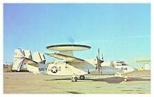 US Navy Grumman E-2C Hawkeye Carrier Borne Early Warning Aircraft Postcard F3