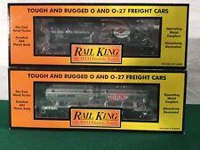 MTH RailKing 30-7361 30-7330 Lot Of  (2) Tank Cars Breyers DuPont  O NEW