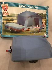 Vintage Pedigree 80s Sindy Camping Adventure Tent Trailer Set 44770 Boxed