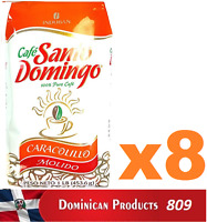 8 pound CAFE Santo Domingo CARACOLILLO grounded best dominican coffee 100% EUROP