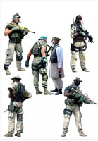 1:35 scale 6 figures Resin Model US special forces disassembled and unpainted se