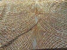 Black/Gold, Sequin Mesh ILLUSION Polyester 2-way stretch, Dance Apparel Wedding