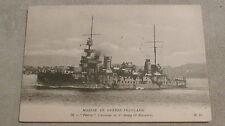 """CPA Marine de guerre française """"Patrie"""" cuirassé de 1er rang (2è escadre) Bateau"""