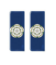 2x Yorkshire County Flag - Gel Domed Number Plate Badges/Decals 107x42mm