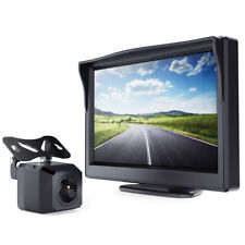 """5"""" TFT LCD Video Monitor Car HD Night Vision Reverse Camera Rear View Wired Kit"""