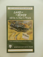 VHS Video Kassette Land-Rover Film Library II All in a day's work