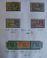 BRITISH EAST AFRICA K.U.T. GEO.V JUILEE 1935 SET 4 & 1937 SET 3 CORONATION