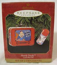 Howdy Doody Mini Lunch Box Thermos Ornament Set 1999 Hallmark Keepsake