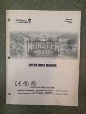 Monster Bash Williams Pinball Operations Manual
