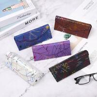 Folding PU Waterproof Strong Magnet Eyewear Case Triangle Glasses Sunglasses Box