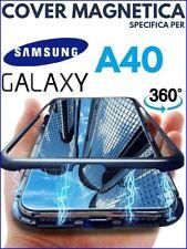 COVER MAGNETICA Per SAMSUNG GALAXY A40 CUSTODIA PROTEZIONE 360° VETRO TEMPERATO