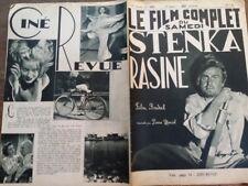 """LE FILM COMPLET 1936 N 1822  """" STENKA RASINE """"avec HANS ADALBERT SCHLETTON"""