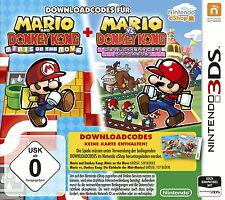 Downloadcodes für 2 Spiele: Mario & Donkey Kong Nintendo 3DS - Neu in Folie