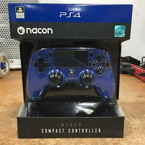 Nacon Compact Wired Controller Blue for PlayStation 4 PS4 Video Game Console NEW