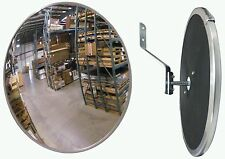"#1 Industrial Rated 18"" Acrylic Indoor/Outdoor Safety & Security Convex Mirror"