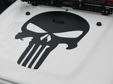 Sticker for Jeep Wrangler punisher Decal bonnet hood lock grill mount shackle v8