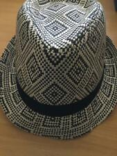 Emerson Trilby Patterned Straw Hat One Size 59cm Detail Postage