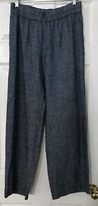 NWT Eileen Fisher Denim Hemp Organic Cotton Chambray Straight Pants $178 XS