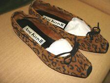 Anne Klein Ii Leopard Print Leather Flats Vintage Sz 9 Medium Ballet Flat tie