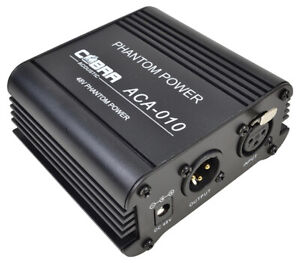 48 Volt Phantom Power Supply For Condenser Microphones with UK Power Supply