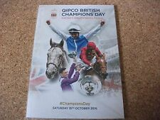 ASCOT BRITISH CHAMPIONS DAY RACE CARD, OCTOBER, 15TH 2016, NEW & UNUSED