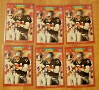 6 Card Lot! 1989 Pro Set Bo Jackson #185 Los Angeles Raiders LA