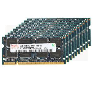 Lot Hynix 4GB 2GB 2RX8 PC2-6400S DDR2 800Mhz RAM 200Pin SODIMM Laptop Memory 2G