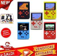 VINTAGE GAME BOY CLONE MINI CONSOLE A COLORI 129 GIOCHI CLASSICI PSP PVP BIMBI