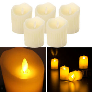 5pack LED Flameless Wax Flickering Vanilla Scented Mood Candles