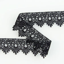 3 Yards Black Polyester Costume Elasticity Lace Trim Sewing Trimming DIY Craft