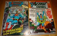 ACTION COMICS (SUPERMAN) #364,377 CLASSIC NEAL ADAM COVERS VG/VG+