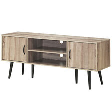 """Wood Leg Tv Stand Entertainment Center For Tv's up to 60"""" With Display Shelf"""