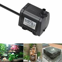 NEW Mini 7W 400L/H Electric Submersible Water Pump Fountain Pool Pond Fish Tank