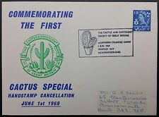 GB FDC Cactus Special Handstamp Cancellation 1/6/1969, Northern Counties Show