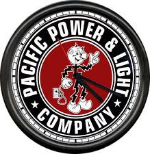 Reddy Kilowatt Pacific Powr Co. Electrician Utility Lineman Sign Wall Clock