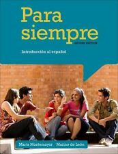 Para siempre: Introduccion al espanol (World Languages), Montemayor, Marta, de L