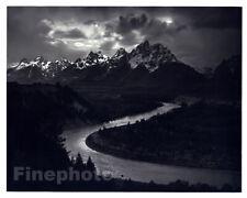 1949 Original ANSEL ADAMS Grand Tetons Snake River Landscape Photo Art 11X14