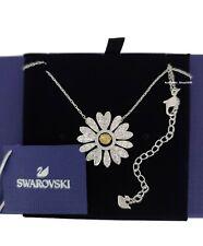 New Authentic SWAROVSKI Rhodium Sparkle Eternal Flower Daisy Necklace 5512660