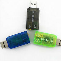 5.1USB to 3.5mm mic headphone Jack Stereo Headset 3D Sound Card Audio Adapter